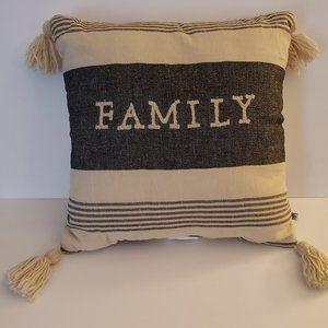 Hearth & Hand Magnolia Family Throw Pillow Tassel